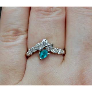 《ブラジル産》美しいパライバトルマリンCuO1.88%& 高品質ダイヤモンド(リング(指輪))