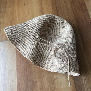 MUJI (無印良品) - 無印良品 ラフィア ハット 帽子 たためるキャペリン 麦わら帽子