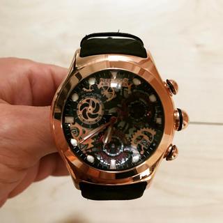 reputable site 8d041 5d743 腕時計 リーフタイガー クロノグラフ スケルトン