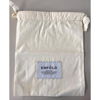 エンフォルド(ENFOLD)のエンホォルド ポーチ巾着袋/生成/美品(ポーチ)