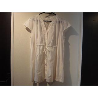 アマカ(AMACA)のAMACA チュニック/ブラウス 絹混合 38 (シャツ/ブラウス(半袖/袖なし))