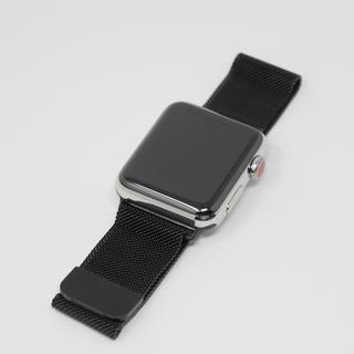 アップルウォッチ取り替え用ベルト 42㎜ ブラック(金属ベルト)