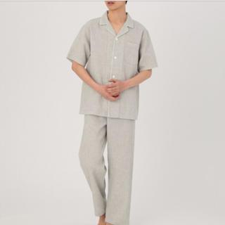 MUJI (無印良品) - 脇に縫い目のないワッフル 半袖パジャマ・ L