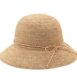 ムジルシリョウヒン(MUJI (無印良品))のサイズが調節できるラフィアたためるキャペリン(麦わら帽子/ストローハット)