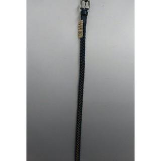 ムジルシリョウヒン(MUJI (無印良品))の新品 無印良品 ヌメ革 手染め細編みベルト・ネイビー(ベルト)