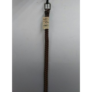 ムジルシリョウヒン(MUJI (無印良品))の新品 無印良品 ヌメ革 手染め細編みベルト・ブラウン(ベルト)