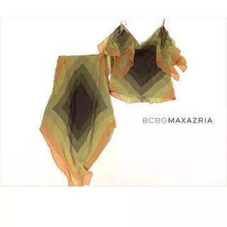 ビーシービージーマックスアズリア(BCBGMAXAZRIA)のBCBGMAXAZRIA◆M◆シルク100%アースグラデカラーシフォン(ひざ丈ワンピース)