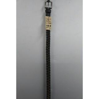 ムジルシリョウヒン(MUJI (無印良品))の新品 無印良品 ヌメ革 手染め細編みベルト・黒(ベルト)