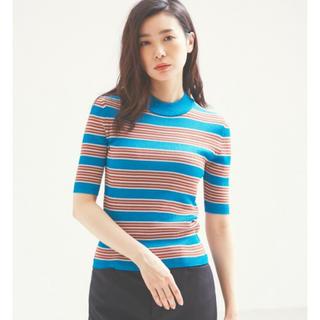 カリテ(qualite)のqualite マルチボーダーニット(Tシャツ(半袖/袖なし))