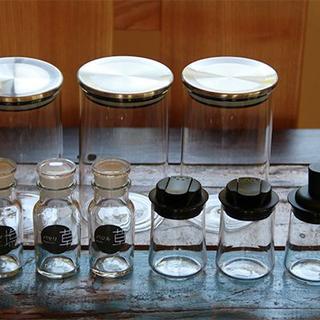 ムジルシリョウヒン(MUJI (無印良品))の無印良品 スタンダードガラスキャニスター 他 保存容器9点セット(収納/キッチン雑貨)