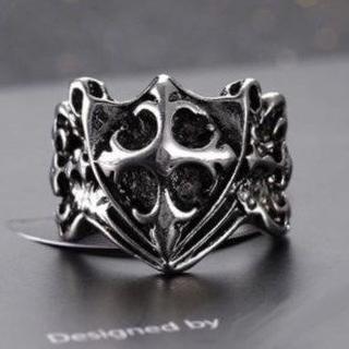 クロス モチーフ リング 指輪 ユニセックス シルバー(リング(指輪))