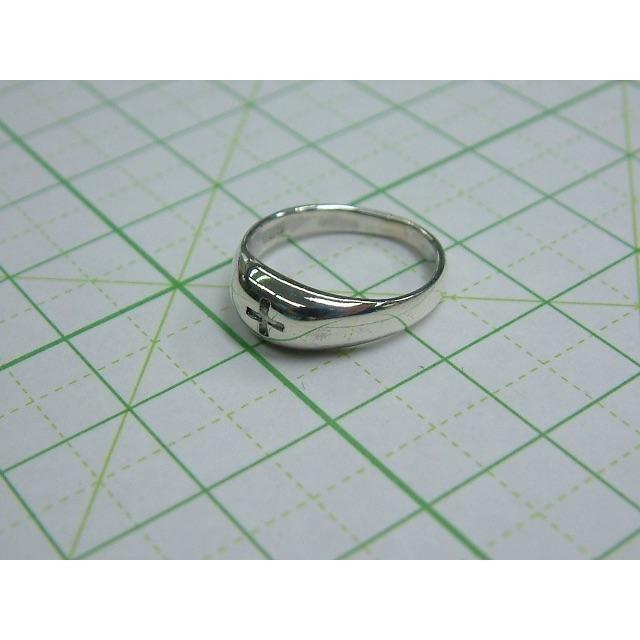 5 号サイズ シルバーリング クロス 十字架 ピンキー SILVER シンプル レディースのアクセサリー(リング(指輪))の商品写真