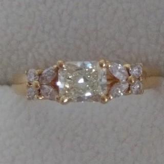 【更にお値下げしました】VS-2 K18 ダイヤモンド リング(リング(指輪))