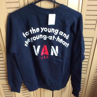 ヴァンヂャケット(VAN Jacket)のVAN jac トレーナー  ネイビー  未使用品  Mサイズ(トレーナー/スウェット)