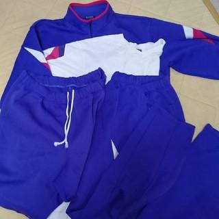 アシックス(asics)の中学校 体操服(古) 長袖 長ズボン 半袖 ハーフパンツ 4点×2セット(ジャージ)