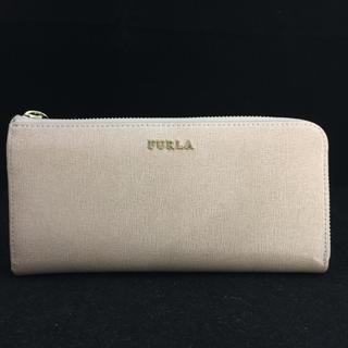 955a45569d7d フルラ(Furla)のFURLA フルラ エンボスレザー ライトピンク L字ファスナー 長財布 (