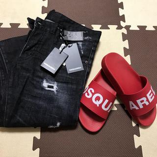 ディースクエアード(DSQUARED2)のDSQUARED2 2018年春夏モデル 赤 39サイズ(サンダル)