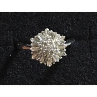 未使用 K18WG ダイヤモンド リング D 約0.43ct(リング(指輪))