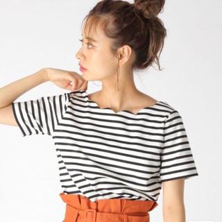 ミスティウーマン(mysty woman)のmistywoman ボーダーTシャツ(Tシャツ(半袖/袖なし))