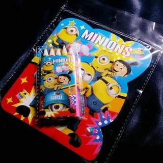 ミニオン(ミニオン)のMinions ぬりえセット / ぬりえ 5色 色鉛筆(知育玩具)