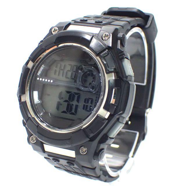A631 中古 クアトロ Quattro 時計 腕時計 QM-15 ブラック メンズの時計(腕時計(デジタル))の商品写真