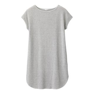 ジーユー(GU)のXL 新品 タグ付 GU ワッフル ロング Tシャツ ワンピース(ミニワンピース)