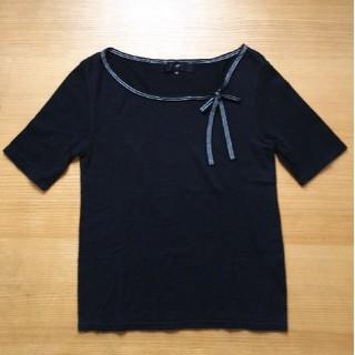 ヨンドシー(4℃)の4℃  ニット素材Tシャツ(Tシャツ(半袖/袖なし))