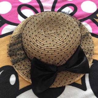 シマムラ(しまむら)の54センチ カンカン帽 バースデー(帽子)