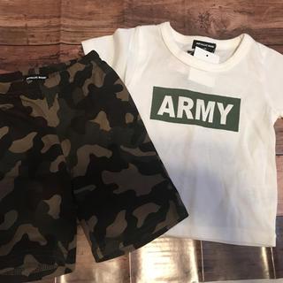 シマムラ(しまむら)のロコ様専用新品ARMY Tシャツ☆迷彩パンツセット80しまパト(Tシャツ)