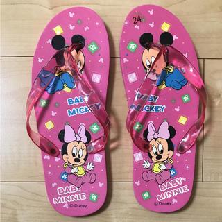 ディズニー(Disney)のkyasarin様専用♡ベビーミッキー&ミニー ビーチサンダル(ビーチサンダル)