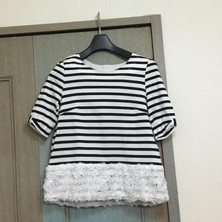ストロベリーフィールズ(STRAWBERRY-FIELDS)のストロベリーフィールズ ボーダーTシャツ カットソー  (Tシャツ(半袖/袖なし))