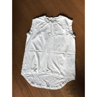 リサーチ(....... RESEARCH)の白 ノースリーブ トップス(Tシャツ(半袖/袖なし))