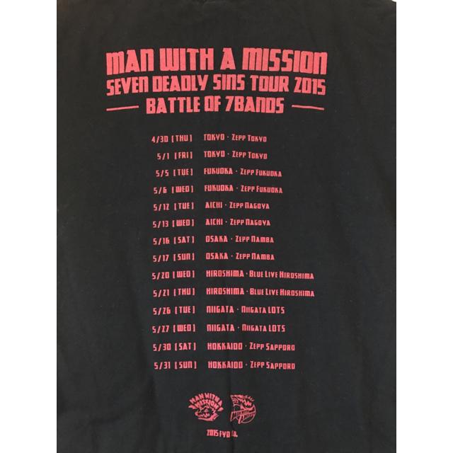 MAN WITH A MISSION(マンウィズアミッション)の【MAN WITH A MISSION】バンドTシャツ【マンウィズ】 エンタメ/ホビーのタレントグッズ(ミュージシャン)の商品写真