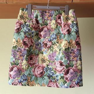 シマムラ(しまむら)の夏に🌻 ゴブランスカート(ひざ丈スカート)