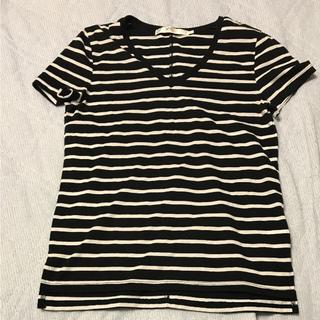 アズールバイマウジー(AZUL by moussy)の*値下げ*AZUL Vネック ボーダーTシャツ(Tシャツ(半袖/袖なし))