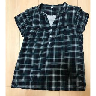 ムジルシリョウヒン(MUJI (無印良品))のみもさ様専用MUJI 授乳もできる半袖シャツ サイズS〜M(マタニティトップス)