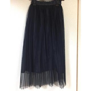ジーユー(GU)の試着のみ♡gu チュールプリーツスカート(ロングスカート)