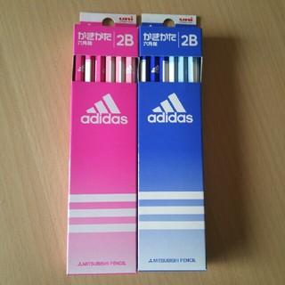 アディダス(adidas)の新品◆未開封「三菱鉛筆 uni adidas かきかた鉛筆 六角軸 2B 2点」(鉛筆)