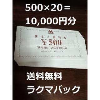 モスバーガー 株主優待券(レストラン/食事券)