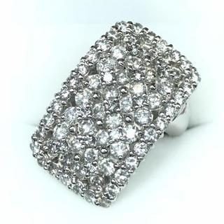 1255 ダイヤモンド 3.12ct pt900 プラチナ リング 12号(リング(指輪))
