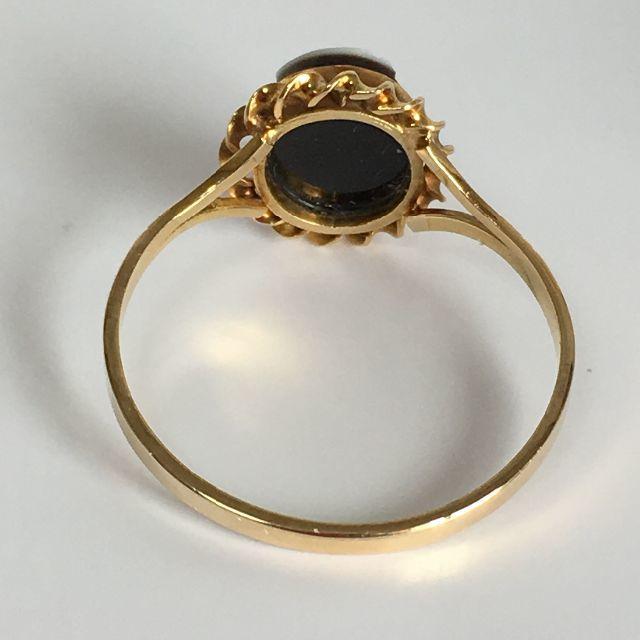 K18YG(イエローゴールド)カメオ デザインリング 17.5号 指輪 レディースのアクセサリー(リング(指輪))の商品写真