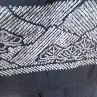 男性用 部分絞りだった!紺色 兵児帯 洗濯OK! 化繊(ポリエステル?)(帯)