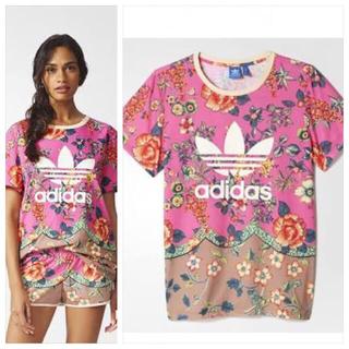 アディダス(adidas)のadidas × farm コラボ 花柄 Tシャツ M(Tシャツ(半袖/袖なし))