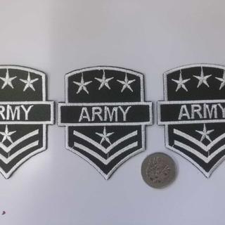 送料無料 刺繍アイロン ワッペン3枚セット 勲章 ARMY W11(襟章)