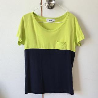 アロイ(ALOYE)のアロイ バイカラーTシャツXS(Tシャツ(半袖/袖なし))