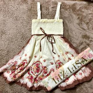 リズリサ(LIZ LISA)のLIZ LISA☆花柄コットンフレアワンピース(ミニワンピース)