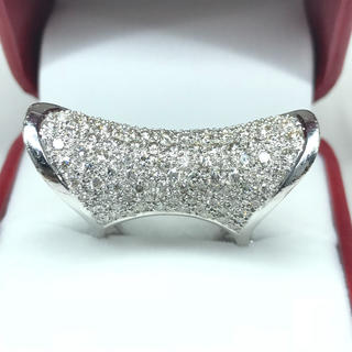 1256 ダイヤモンド 2.67ct WGK18 ホワイトゴールドリング 12号(リング(指輪))