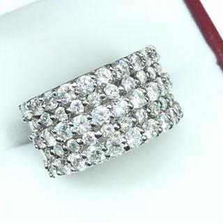 1257 ダイヤモンド 3.00ct pt900 プラチナ リング 13号(リング(指輪))
