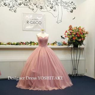 ウエディングドレス(パニエ無料サービス) 渋ピンク 披露宴/二次会(ウェディングドレス)