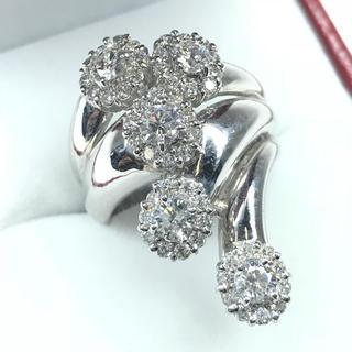 1258 ダイヤモンド 1.50ct pt900 プラチナリング 11号(リング(指輪))